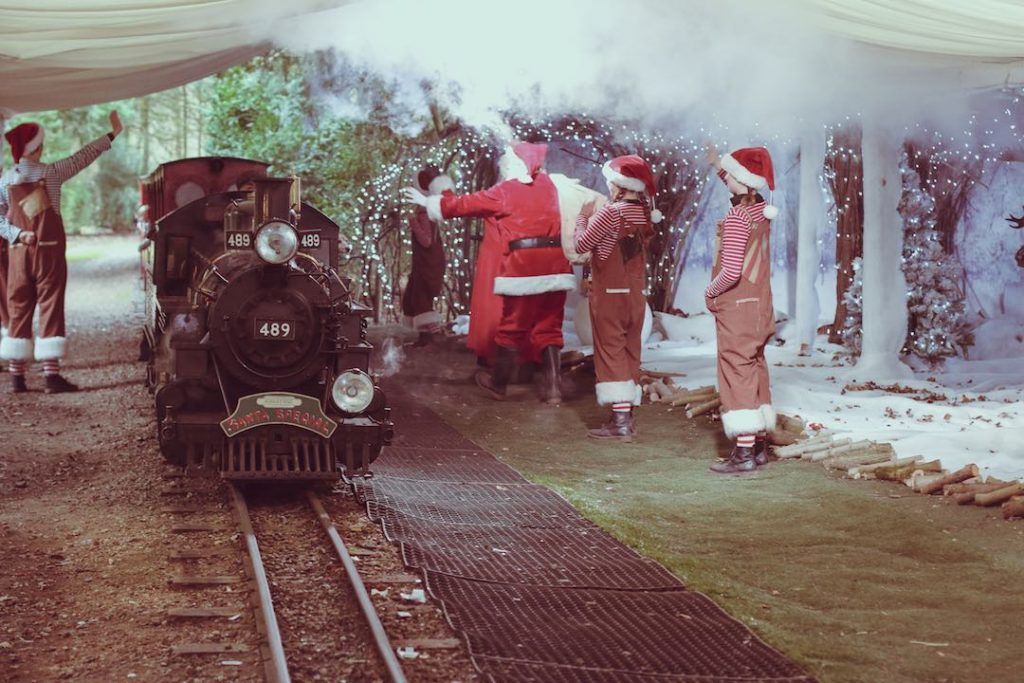 Audley End miniature railway at Christmas